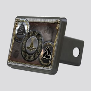 Vikings Shields Rectangular Hitch Cover